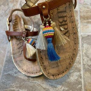 Sam & Libby trendy tassel sandals